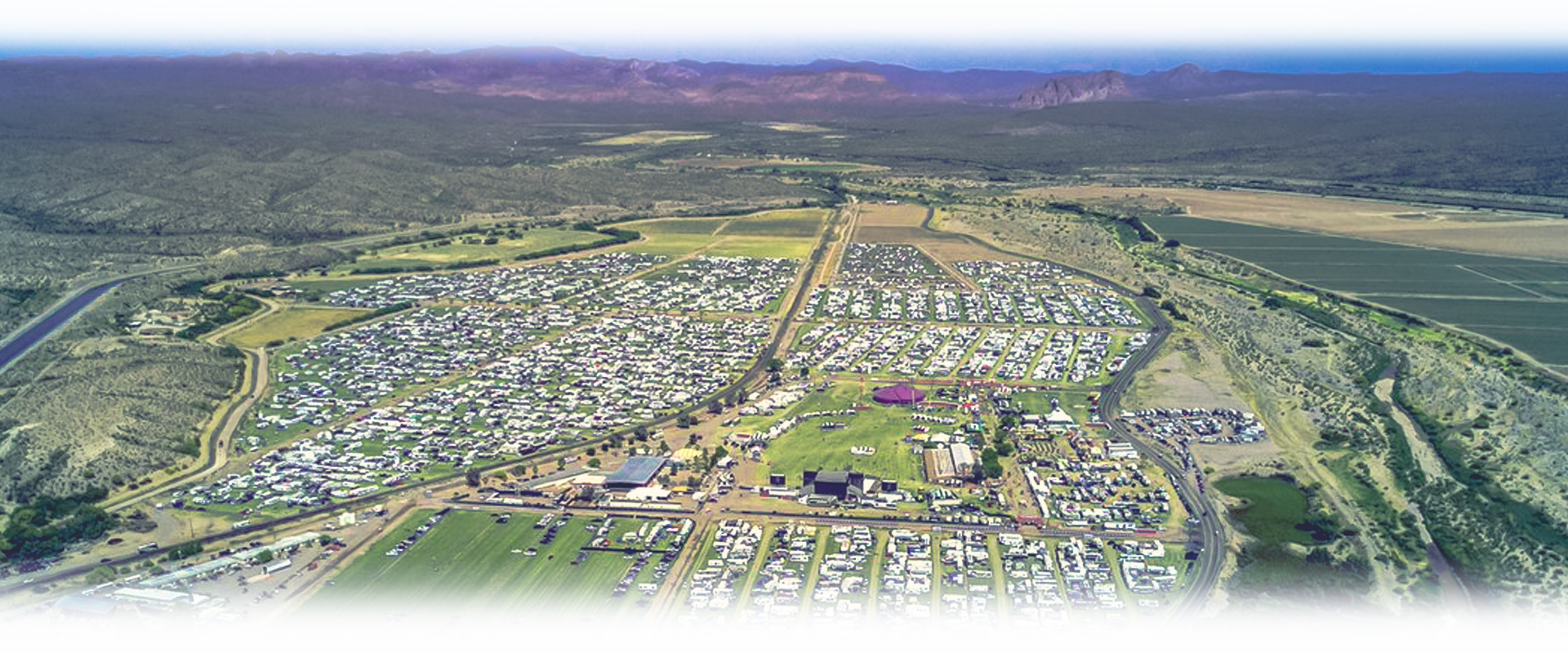 aerial view of Country Thunder Arizona